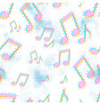 colorful music icons sound media seamless pattern vector image