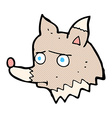 comic cartoon unhappy wolf vector image vector image