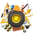 Construction Concept with Wheel vector image vector image