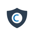 copyright protection icon vector image