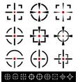 crosshairs reticle set vector image