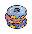 delicious sweet donut cake vector image