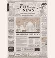 design of old vintage newspaper template vector image