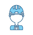 engineer with safety helmet icon vector image