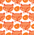 Fox pattern2 vector image