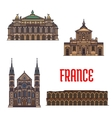 French travel landmarks icon for tourism design vector image vector image