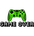 game over quote text phrase quotation vector image