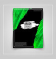 green brushstroke on black background cover vector image