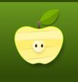 green paper apple card design vector image
