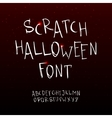 hand drawn scratchy Halloween font vector image vector image