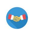 handshake icon sign symbol vector image