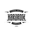 hard rock badge - original lettering with vector image