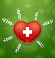 Heart and cross vector image vector image