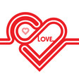 heart red icon line vector image