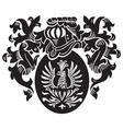 heraldic silhouette No16 vector image