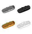 hot dog single icon in cartoon stylehot dog vector image