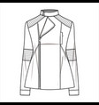 jacket outer fashion flat sketch template vector image vector image
