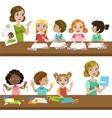 Kids In Art Class vector image vector image
