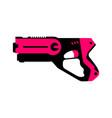 laser tag gun vector image vector image