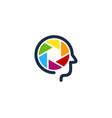 lens brain logo icon design vector image