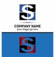 Letter S logo symbol vector image vector image