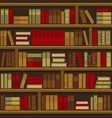library book shelf seamless background vector image vector image