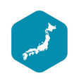 map japan icon simple style vector image vector image