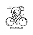 Modern of cyclist vector image