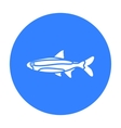 Neon fish icon black Singe aquarium fish icon vector image vector image