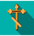 Orthodox cross icon in flat style vector image vector image
