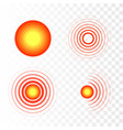 pain symbols red circles of pain vector image