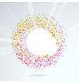 Particle bright circle design element vector image