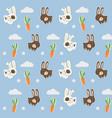 pattern rabbit vector image vector image