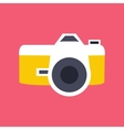 photo camera icon in flat style vector image vector image