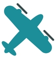 Propeller Aircraft Flat Icon vector image vector image