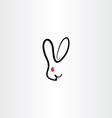 rabbit symbol icon vector image vector image