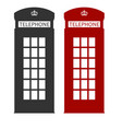 red london street phone booth vector image vector image