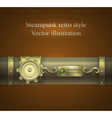 retro banner in shades of brown Steampunk vector image vector image