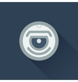 Robot vacuum cleaner flat icon vector image