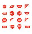 sale tag arrow price offer set label vector image