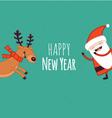 SantaClaus Deer vector image