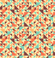 seamless triangle background motley vector image vector image