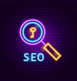 seo neon label vector image