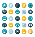 Set Flat Square Icons vector image vector image