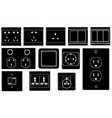 set of different switches and sockets vector image