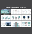 set of gray and turquoise elements for vector image
