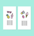 set two card templates modern pins vector image vector image