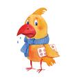 Sick bird vector image