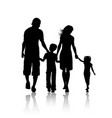 silhouette of a family vector image vector image