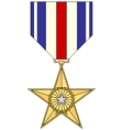 Silver Star Medal vector image vector image